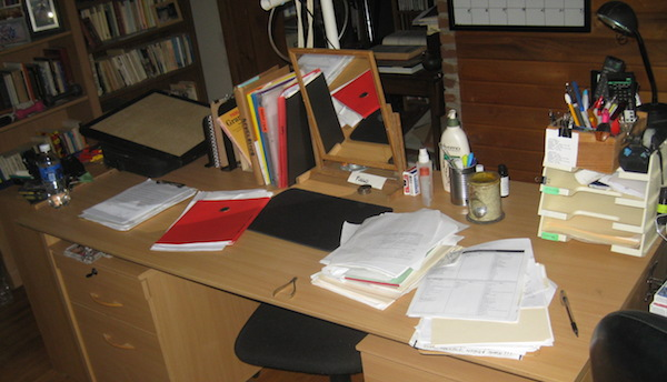 Photo of messy desk