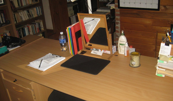 photo of clean desk